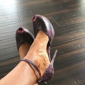 Jeffrey Campbell platform ankle strap heels